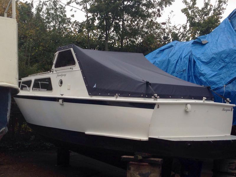 Wintertent Motorboot | Blauw