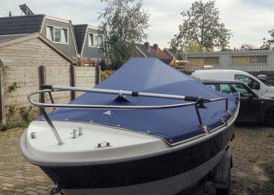 Dekzeil blauw | Topcraft speedboot