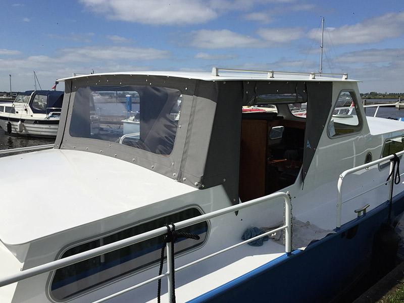Kuiptent motorboot Grijs