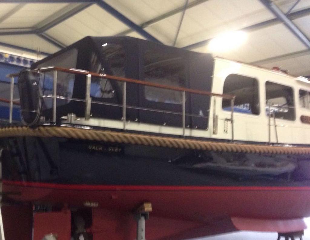 Valkvlet boot tent navy donker blauw