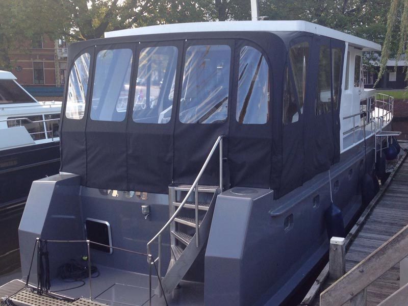 Kuiptent motorboot | Antraciet zwart-grijs