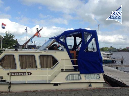 Kap bovenbesturing | Boottent achterdek motorkruiser blauw